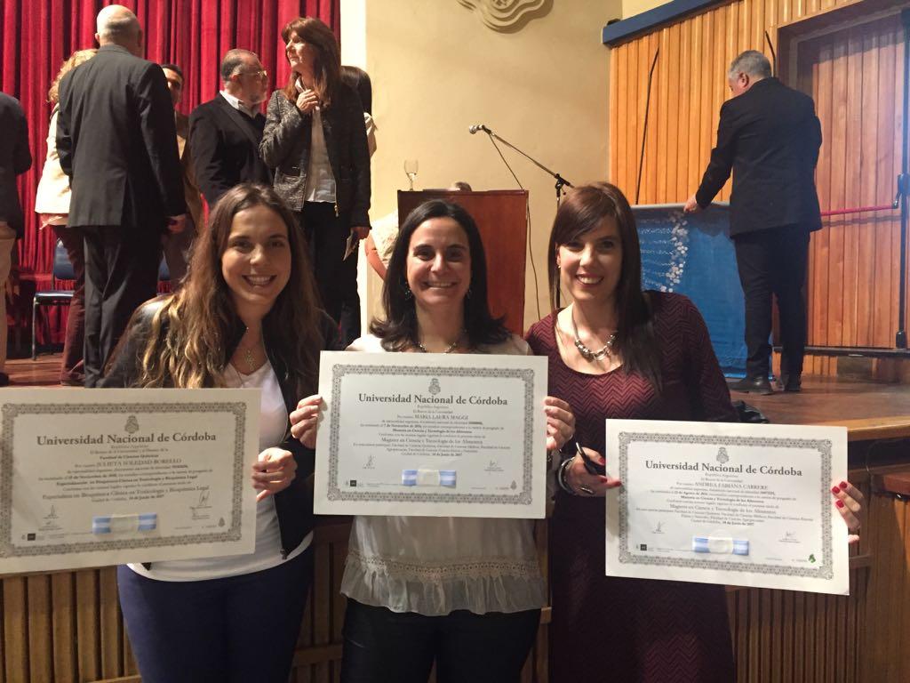 Tres investigadoras del CEPROCOR recibieron sus títulos de posgrado