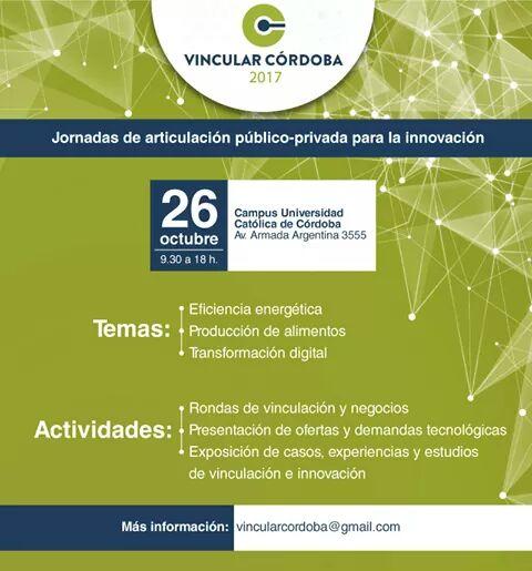 Vincular Córdoba 2017: IV Jornada de articulación para la innovación